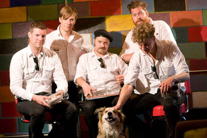 Collie Mix, Cash, with the band, The Hives