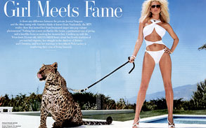 Spotted Leopard Sheena with Jessica Simpson